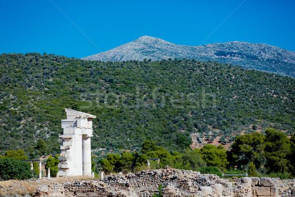 Foto belo ruínas maravilhoso montanha Grécia Foto stock © Massonforstock