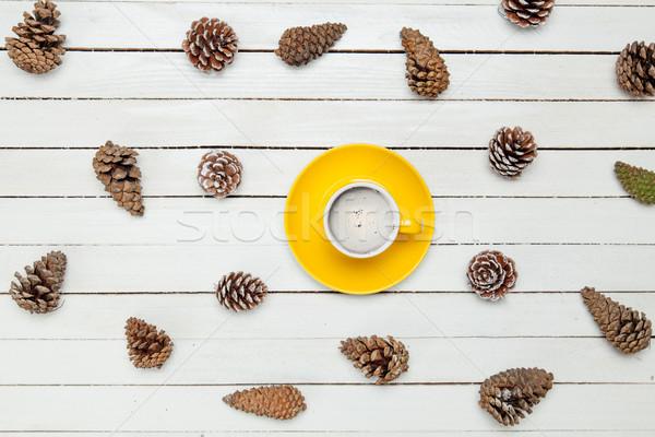 фото желтый Кубок кофе сушат красивой Сток-фото © Massonforstock