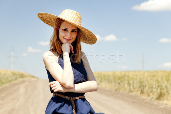 Girl at country road. Stock photo © Massonforstock