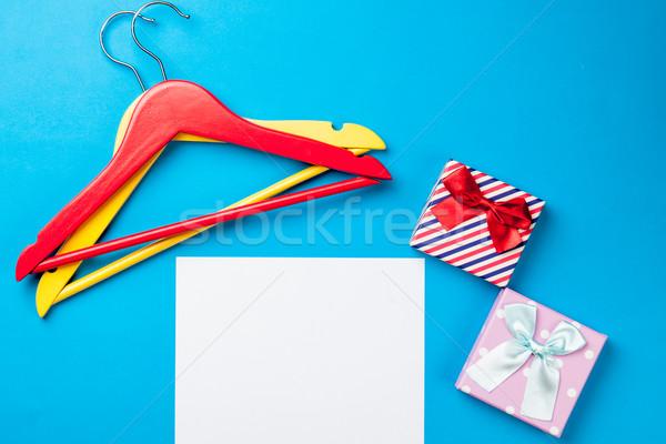 Photo vide fiche papier cute cadeaux Photo stock © Massonforstock