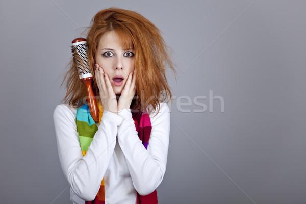 Triste ragazza pettine party faccia star Foto d'archivio © Massonforstock