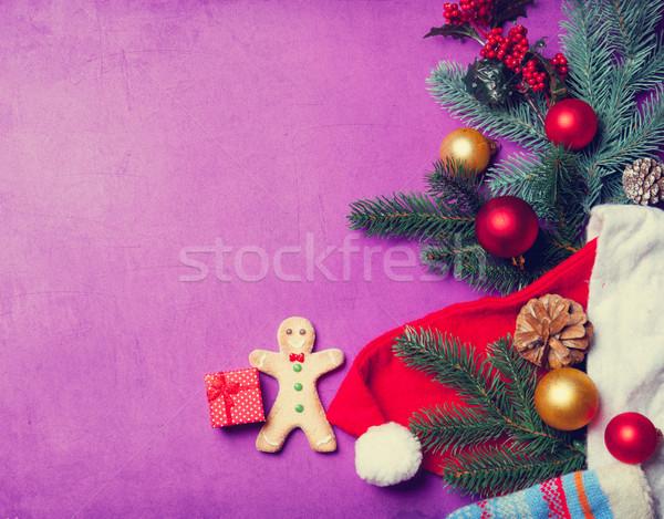 weihnachten geschenk lebkuchenmann violett mann. Black Bedroom Furniture Sets. Home Design Ideas
