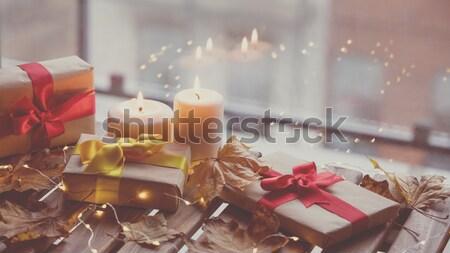 Stok fotoğraf: Noel · hediye · kutusu · kâğıt · doğum · günü · kutu