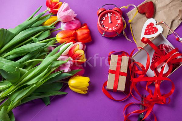 花 贈り物 ラッピング バイオレット 花 春 ストックフォト © Massonforstock