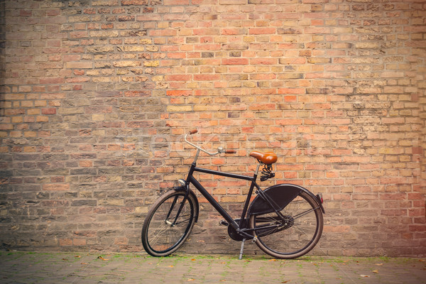 photo of the beautiful bicycle near the wonderful bricks buildin Stock photo © Massonforstock