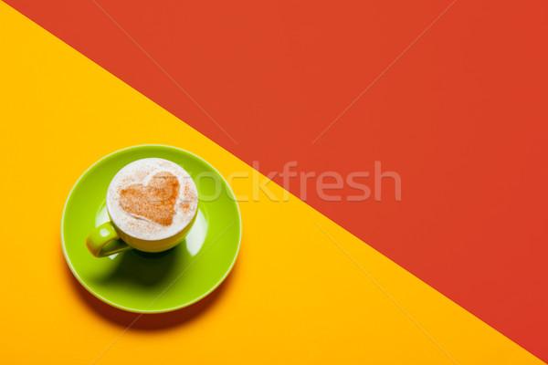 Foto taza café maravilloso colorido arte pop Foto stock © Massonforstock