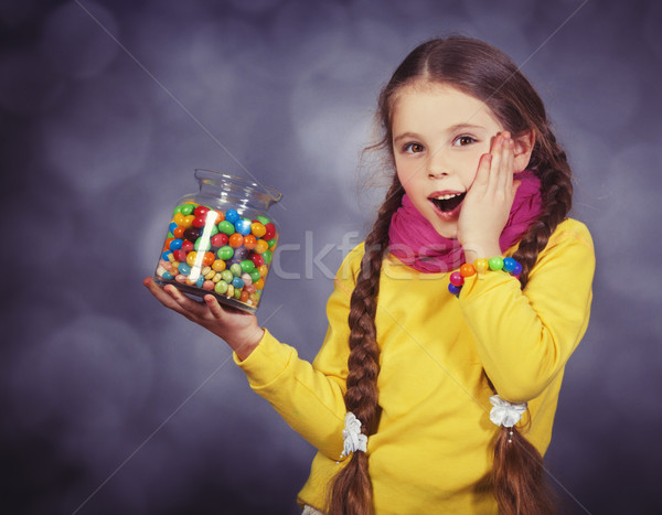 Little girl feijão pequeno ruído Foto stock © Massonforstock