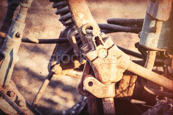古い トラクター 写真 カラー画像 スタイル レトロな ストックフォト © Massonforstock