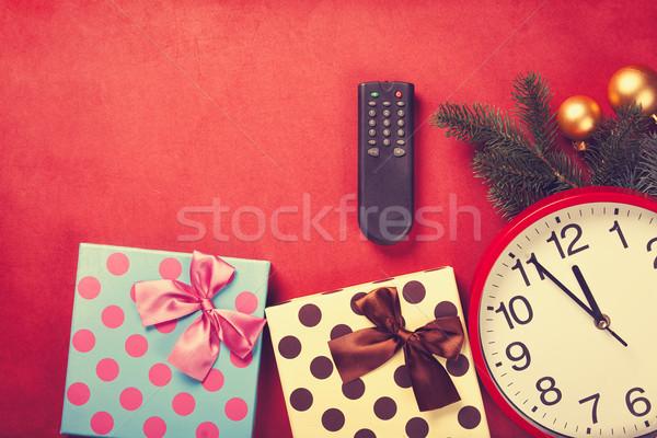 クリスマス 贈り物 赤 ボックス レトロな ストックフォト © Massonforstock