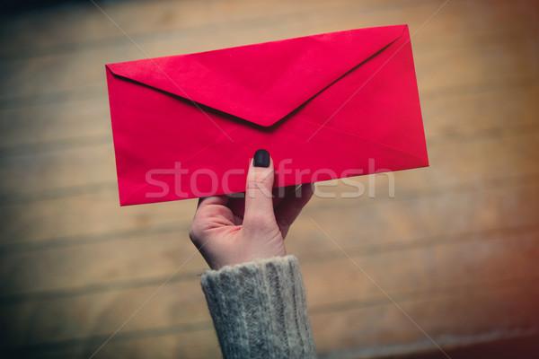 hand holding envelope Stock photo © Massonforstock