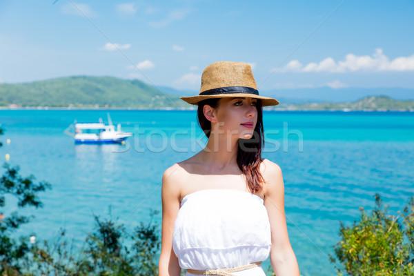 красивой Постоянный замечательный морем Греция Сток-фото © Massonforstock