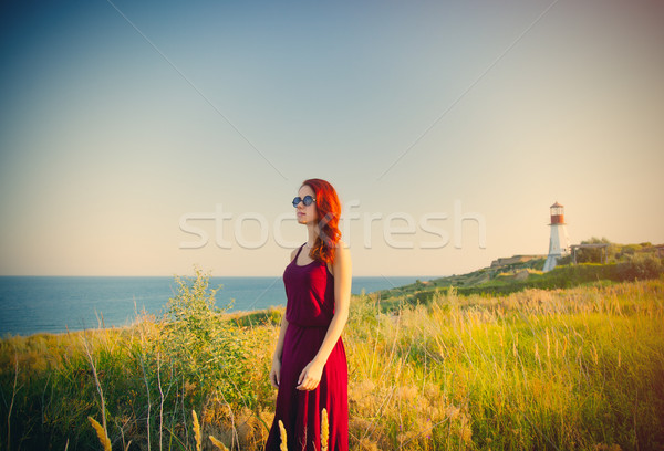 Hermosa pie maravilloso mar faro Foto stock © Massonforstock