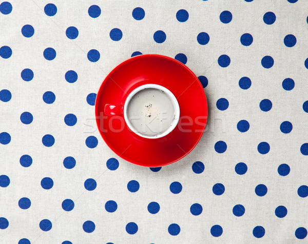 photo of cup of coffee on the white dotted background in pop art Stock photo © Massonforstock
