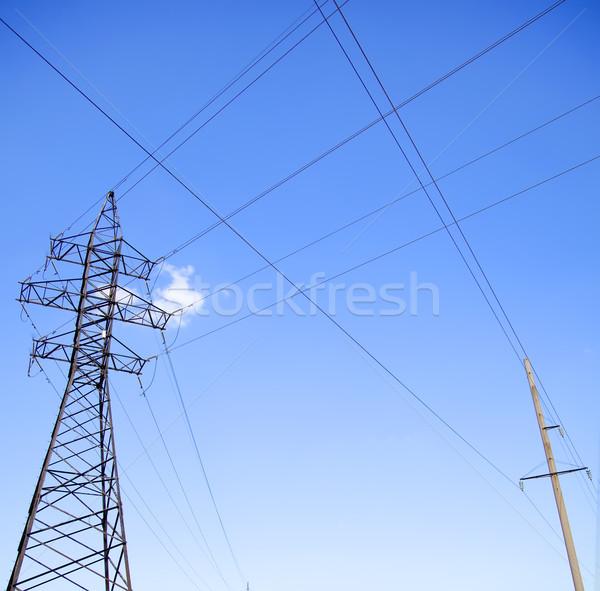 Velho novo alta tensão nuvens fundo quadro Foto stock © Massonforstock
