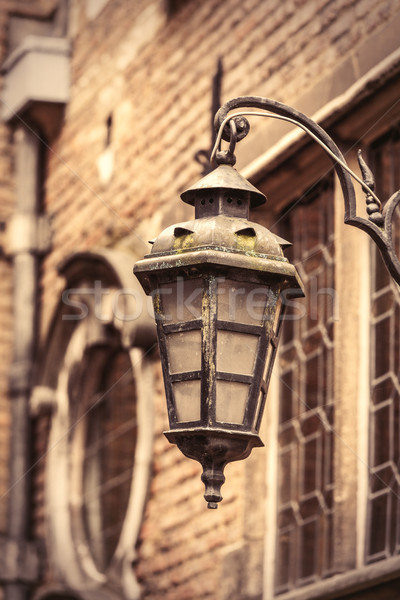 photo of beautiful and old vintage lantern on the wonderful buil Stock photo © Massonforstock