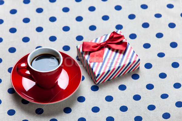 写真 赤 カップ コーヒー かわいい ギフト ストックフォト © Massonforstock