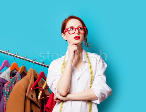 Foto belo mulher jovem centímetro roupa maravilhoso Foto stock © Massonforstock