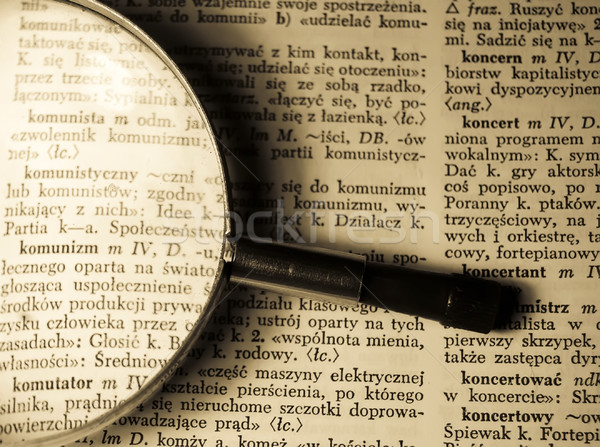 view through loupe at book Stock photo © Massonforstock
