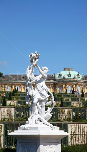 Statue At Schloss Sans Souci.  Stock photo © Massonforstock