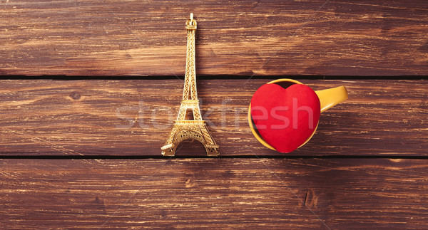 Eiffel tower and heart shape toy  Stock photo © Massonforstock