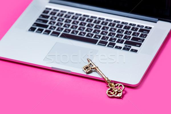 美しい キー クール 銀 ノートパソコン ストックフォト © Massonforstock