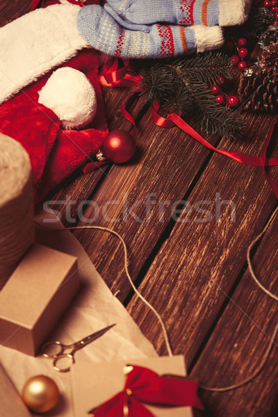 Christmas gifts before wrapping. Stock photo © Massonforstock