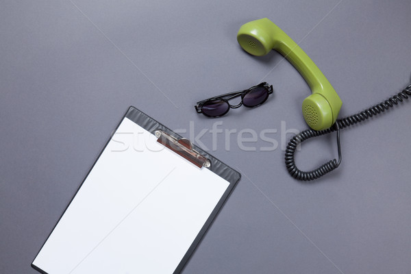 green handset with sunglasses  Stock photo © Massonforstock