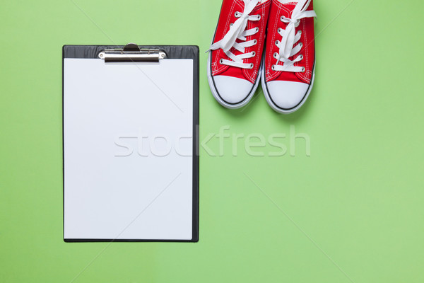 Business board and gumshoes  Stock photo © Massonforstock