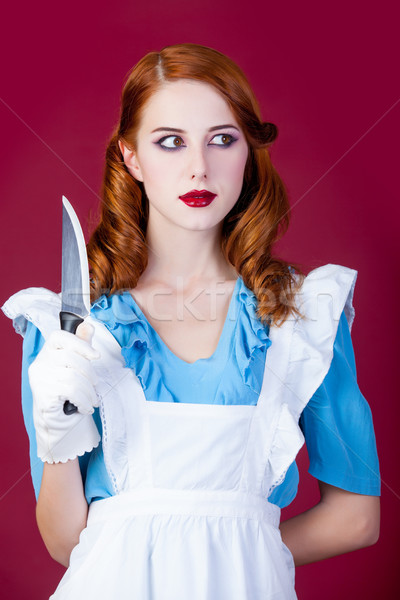 photo of beautiful young woman in Alice murderer character on th Stock photo © Massonforstock