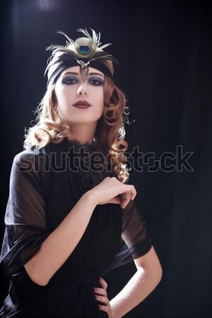 Fille 20s style visage jeunes Photo stock © Massonforstock
