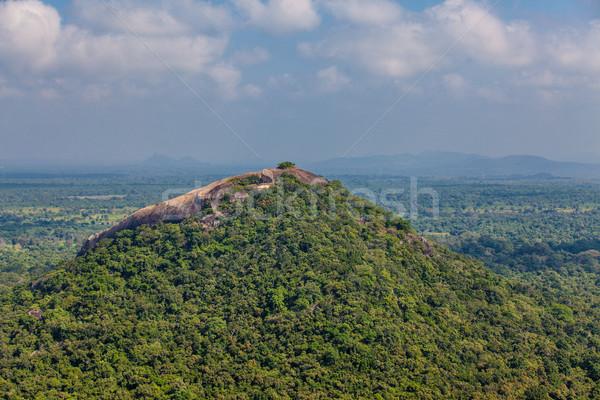 Sri Lanka trópusi erdő hegyek égbolt fű Stock fotó © Massonforstock