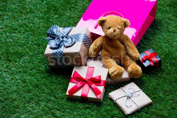 Shopping bag orsacchiotto regali rosa cute piccolo Foto d'archivio © Massonforstock