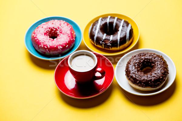 Sabroso taza café placas maravilloso Foto stock © Massonforstock