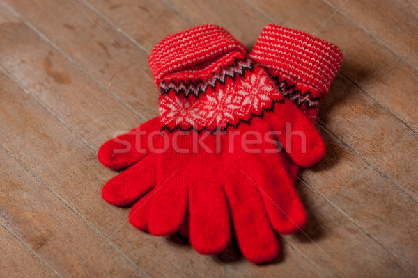 Foto fresco caliente guantes maravilloso marrón Foto stock © Massonforstock