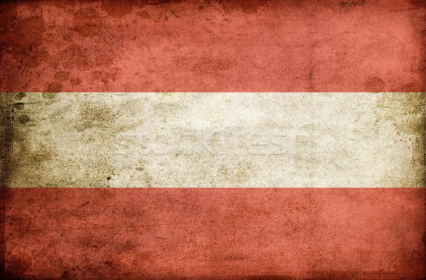 Austrian flag background Stock photo © Massonforstock