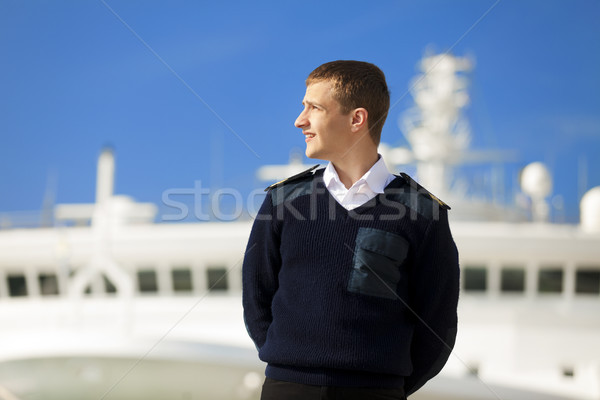 boatswain near the boat Stock photo © Massonforstock