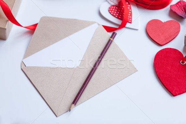 envelope and gifts for wrapping Stock photo © Massonforstock