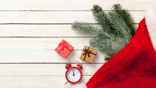 christmas gifts and alalrm-clock  Stock photo © Massonforstock