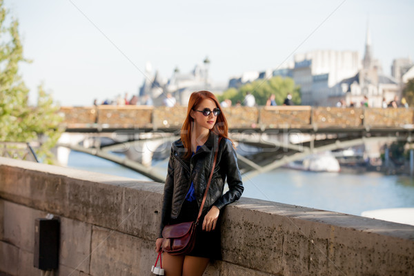 beautiful young woman walking on the street Stock photo © Massonforstock