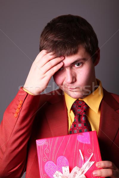 Boy with present box  Stock photo © Massonforstock
