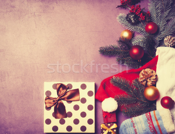 gifts and Santa Claus clothes  Stock photo © Massonforstock