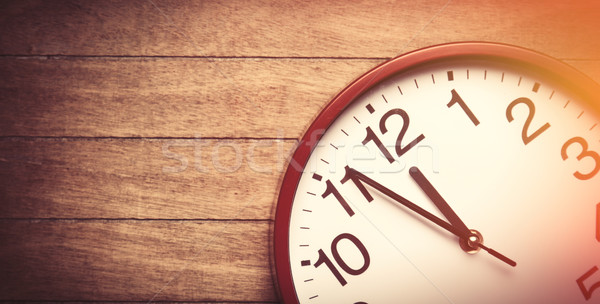 Huge clock on a table. Stock photo © Massonforstock