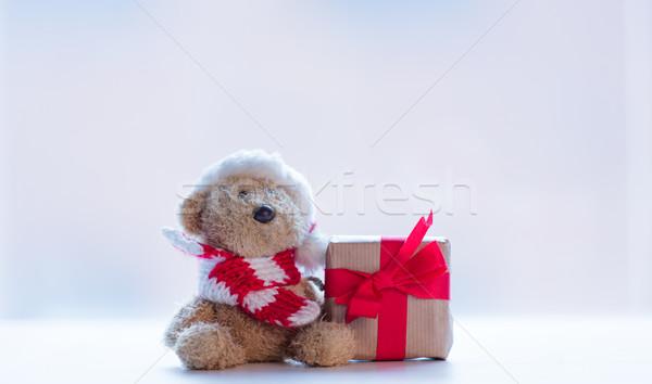 Sevimli oyuncak ayı şapka güzel hediye Stok fotoğraf © Massonforstock