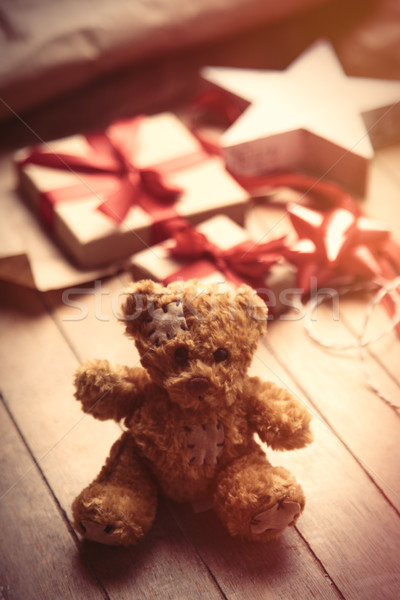 Cute geschenk star speelgoed teddybeer Stockfoto © Massonforstock