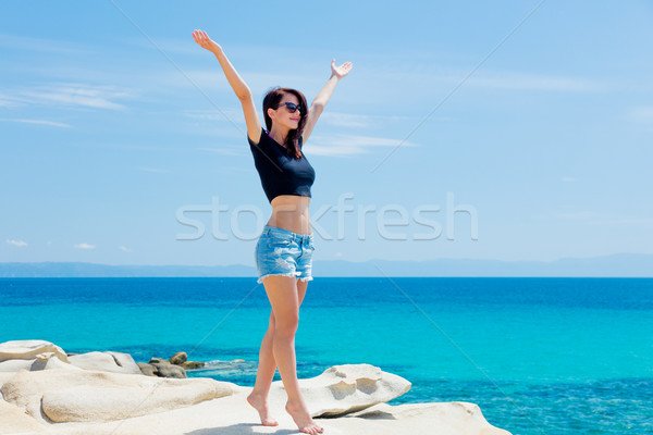 Hermosa pie maravilloso mar Grecia Foto stock © Massonforstock