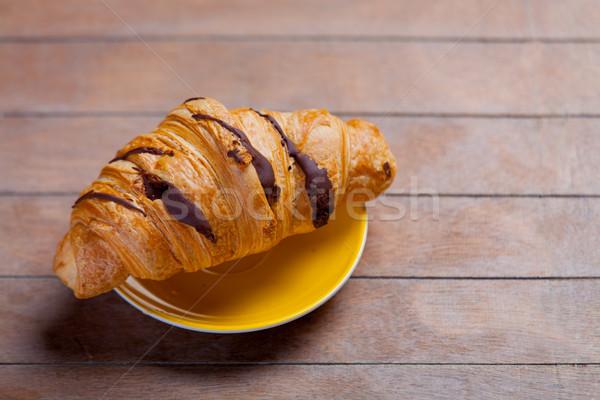 Foto delicioso frescos croissant maravilloso marrón Foto stock © Massonforstock