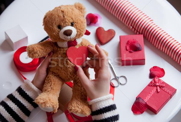 белый кавказский рук сердце Сток-фото © Massonforstock