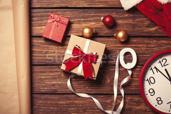 Navidad envases papel diseno casa Foto stock © Massonforstock