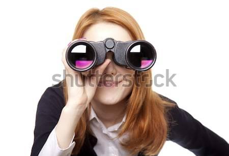 Boy with binocular Stock photo © Massonforstock