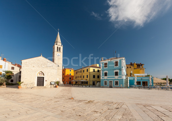 Waterfront square in Fazana Stock photo © master1305